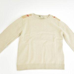 "BURBERRY Beige & ""Nova Check"" Long Sleeve Sweater"
